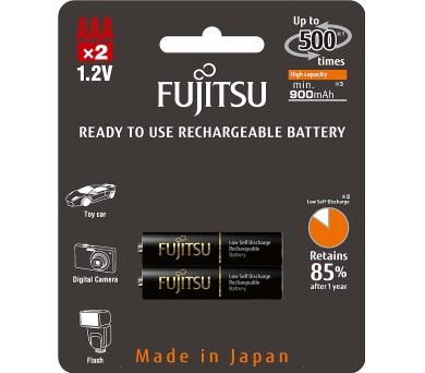 Tužkové baterie Fujitsu HR03 2BP AAA Black NiMH 900mAh