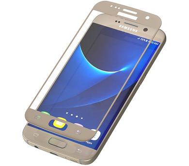 InvisibleSHIELD Glass Contour pro Samsung Galaxy S7 - zlatý rám + DOPRAVA ZDARMA