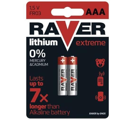 Raver baterie lithiová FR03 (AAA)