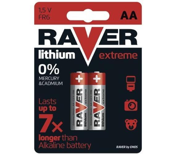 Raver baterie lithiová FR6 (AA)