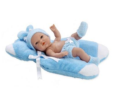 Panenka/miminko vonící 33cm modré pevné tělo v krabici + DOPRAVA ZDARMA