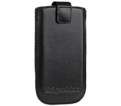 """Kruger&Matz KM0135 Pouzdro kožené na mobilní telefon 4,7"""" - černé"""