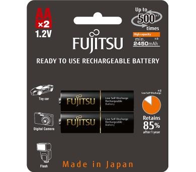 Nabíjecí tužkové baterie Fujitsu HR6 2BP AA Black NiMH 2450mAh
