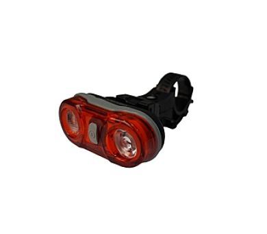 kolo Olpran 2 LED zadní - černá/červená