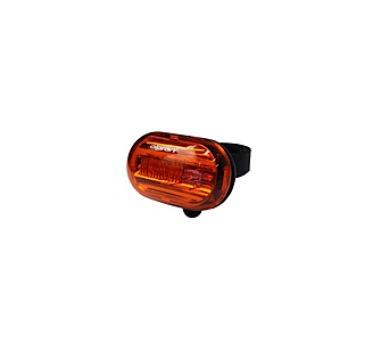 kolo Olpran 5 super červené LED zadní - černá/červená