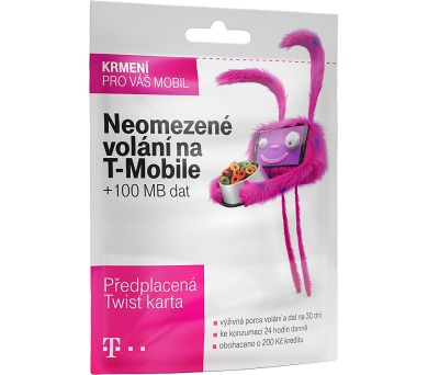 T-mobile Twist V síti 200 Kč kredit + DOPRAVA ZDARMA