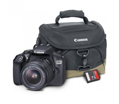 Canon EOS 1300D + objektiv EF-S 18-55 DC III + 8GB pam.karta + brašna