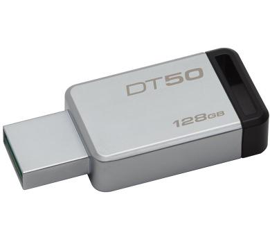 Kingston DataTraveler 50 128GB USB 3.0 - černý/kovový + DOPRAVA ZDARMA