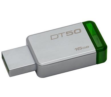Kingston DataTraveler 50 16GB USB 3.0 - zelený/kovový