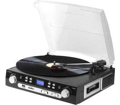 Technaxx USB gramofon/konvertor - převod gramofonových desek a audio kazet do MP3 formátu (TX-22) + DOPRAVA ZDARMA