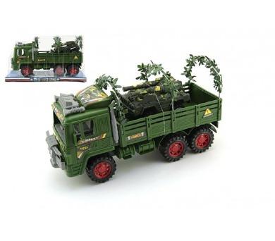 Auto vojenské s doplňky plast 30cm v krabici + DOPRAVA ZDARMA