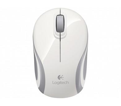 Logitech Wireless Mini Mouse M187 / optická / 3 tlačítka / 1000dpi - bílá