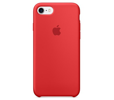 Apple Silicone Case pro iPhone 7 - červený