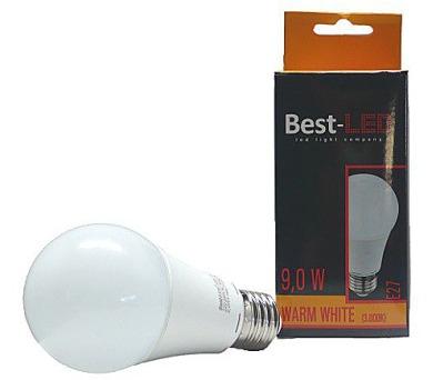 Best-Led E27 9W teplá bílá BE27-9-730W