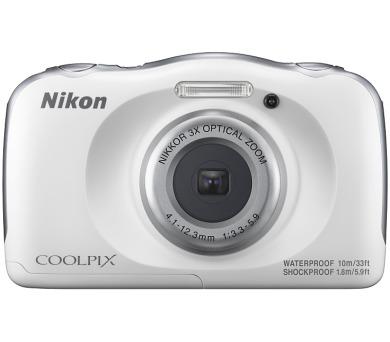 Nikon Coolpix W100 bílí + dětský batoh ZDARMA + DOPRAVA ZDARMA