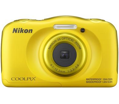 Nikon Coolpix W100 žlutý + dětský batoh ZDARMA + DOPRAVA ZDARMA