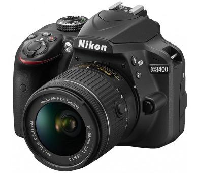 Nikon D3400 + AF-P 18-55 NON VR + ZDARMA powerbanka Nikon + DOPRAVA ZDARMA