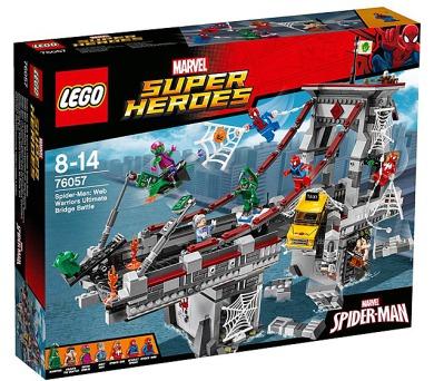 Spiderman 76057 Úžasný souboj pavoučích válečníků na mostě