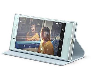 Sony Style Cover Flip pro Xperia X Compact Blue + DOPRAVA ZDARMA