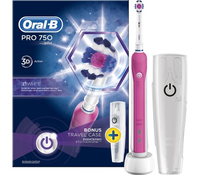 PRO 750 3D WHITE+POUZDRO ZUB KART ORAL B Oral-B + DOPRAVA ZDARMA