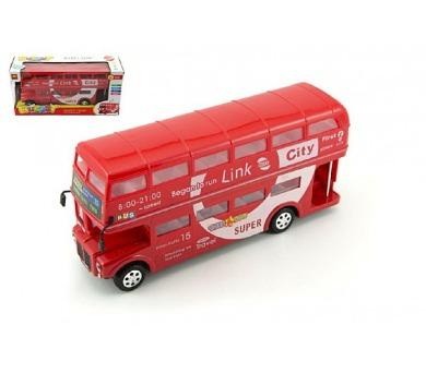 Autobus patrový 28cm plast narážecí na baterie se světlem se zvukem v krabici + DOPRAVA ZDARMA