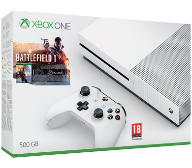 Microsoft Xbox One S 500 GB + Battlefield 1 - bílá