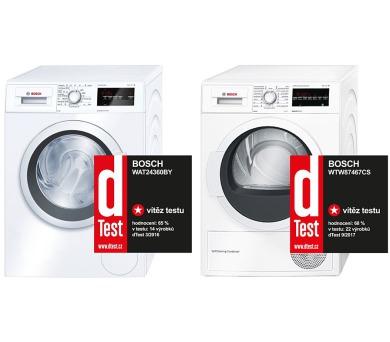 Bosch WAT24360BY + Sušička Bosch WTW87467CS + DOPRAVA ZDARMA