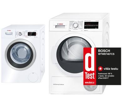 Bosch WAW24460EU + Sušička Bosch WTW87467CS + DOPRAVA ZDARMA