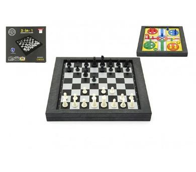 Soubor her 3v1 magnetické šachy+dáma+člověče + DOPRAVA ZDARMA