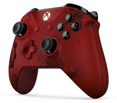 Microsoft Xbox One Wireless Gears of War limitovaná edice - červený