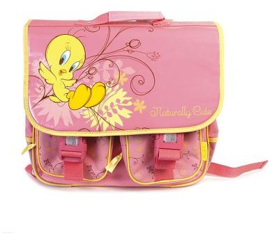 """Školní taška """"Tweety"""" s dvěma kapsami LICENCE + DOPRAVA ZDARMA"""