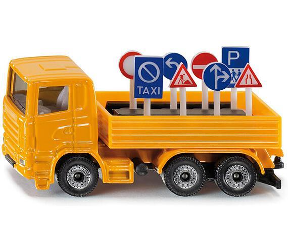 SIKU Blister - Nákladní vozidlo s dopravními značkami