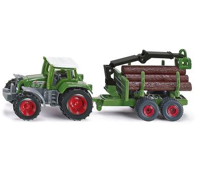 SIKU Blister - Traktor s přívěsem na kulatinu