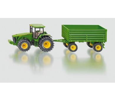 SIKU Farmer - traktor John Deere s vlekem