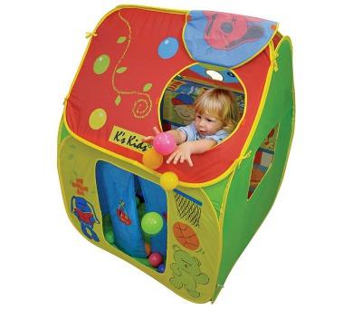 Dětský stan s plastovými míčky