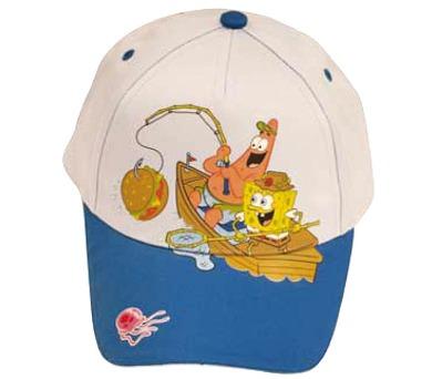 """* Letní kšiltovka """"Sponge Bob"""" šedomodrá"""