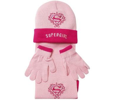 """Zimní souprava růžová """"Supergirl"""" LICENCE"""