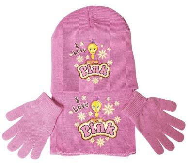 """Zimní souprava růžová """"Tweety-I love Pink"""" LICENCE"""