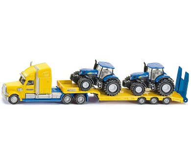 SIKU Super - Tahač s vlekem a 2 traktory New Holland 1:87
