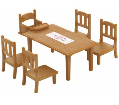 Nábytek - jídelní stůl se židlemi Sylvanian family