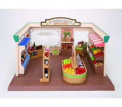 Supermarket - pouze budova + příslušenství (bez postaviček) Sylvanian family