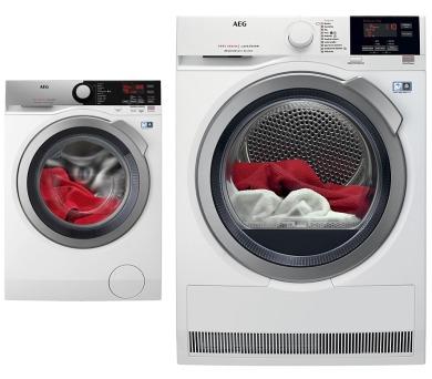 AEG ProSteam® L7FEE48SC + Sušička prádla AEG T8DBG48SC + prodloužená ZÁRUKA na spotřebiče dle podmínek AEG