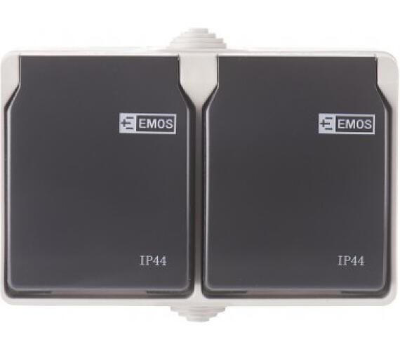 Zásuvka nástěnná dvojitá 16A/250V IP44