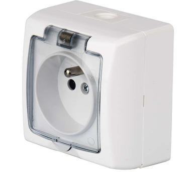 Zásuvka nástěnná ZaRa bílá 4FN15090.2101 IP44