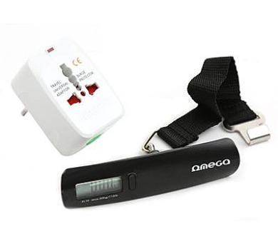 OMEGA 220-250V s digitální cestovní váhou