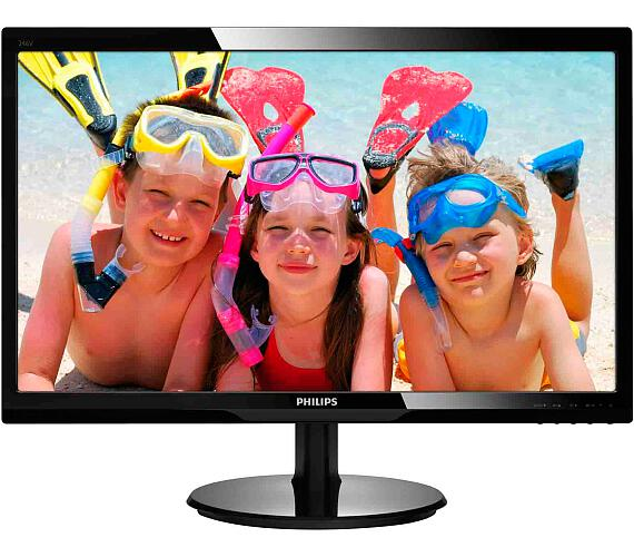 Philips 246V5LHAB - FullHD,HDMI,rep + DOPRAVA ZDARMA