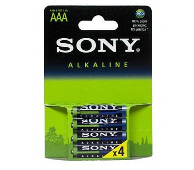 SONY Alkalické baterie AM4LB4D