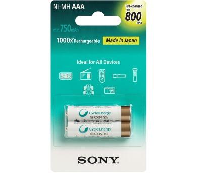 Sony NiMH AAA nabíjecí baterie 800mAh- 2ks