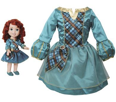 Disney princezna a dětské šaty - Merida/Rebelka + DOPRAVA ZDARMA