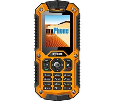 myPhone HAMMER DUAL SIM - černý/oranžový